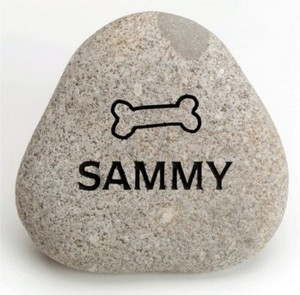 Keepsake rock for dog