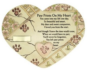 Remembrance pet plaque
