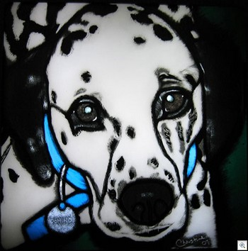 Stained glass pet memorial